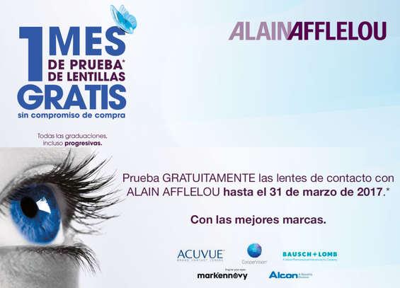 Ofertas de Alain Afflelou, 1 mes de prueba de lentillas GRATIS