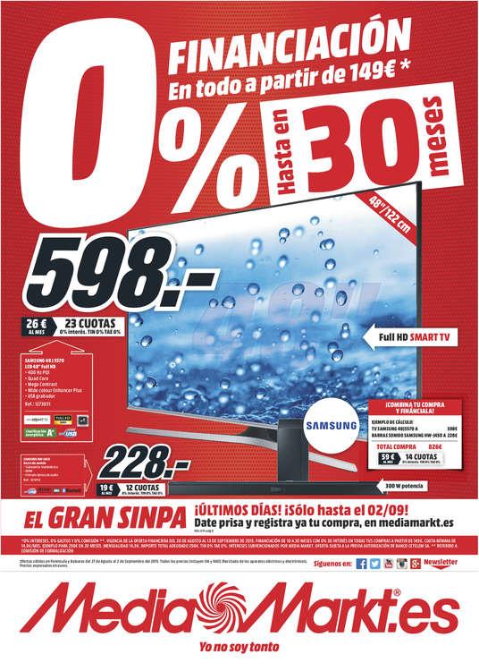 Ofertas de Media Markt, 0% financiación hasta en 30 meses - Lugo