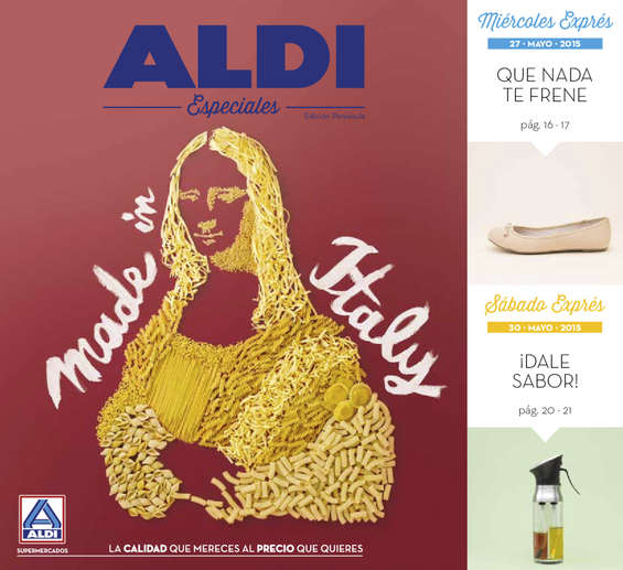 Ofertas de ALDI, Made in Italy