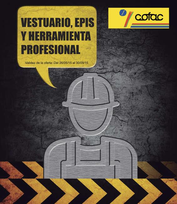Ofertas de Cofac, Vestuario, epis y herramienta profesional