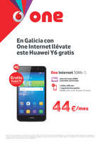 Ofertas de Vodafone, En Galicia con One Internet llévate este Huawei Y6 gratis