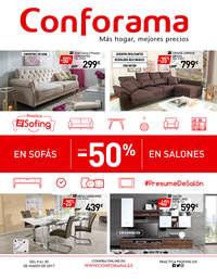 Hasta -50% en sofás y salones