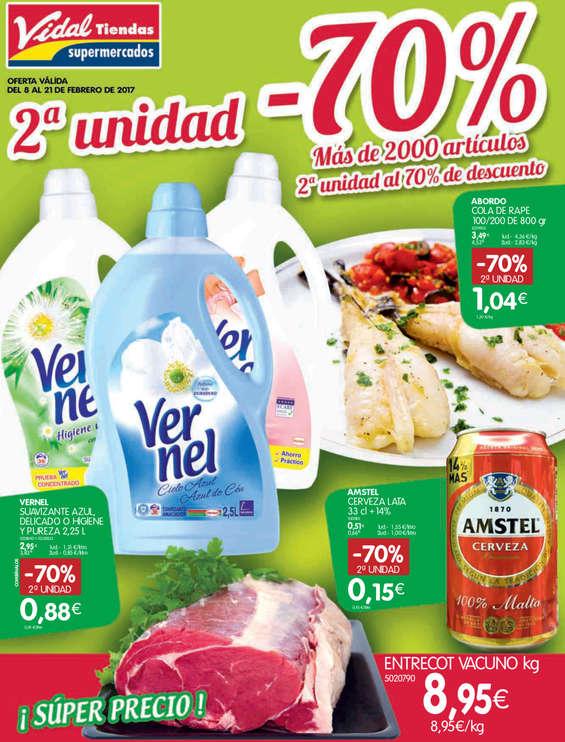 Ofertas de Vidal, 2ª unidad -70% descuento