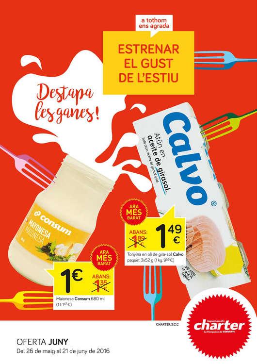 Ofertas de Supermercados Charter, Estrenar el gust de l'estiu