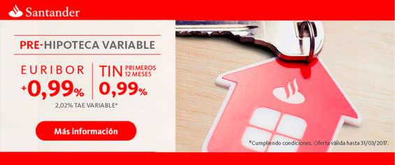 Ofertas de Santander, Pre-hipoteca variable