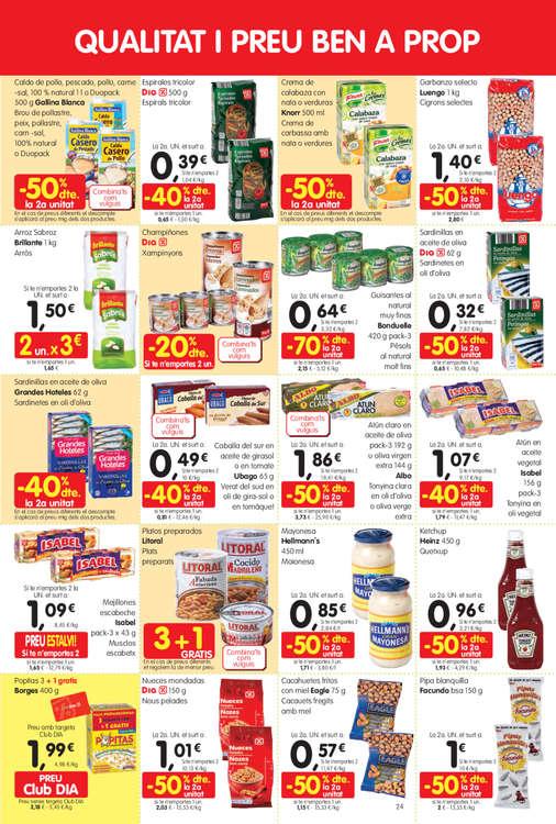 Ofertas de Dia Maxi, Abaixem el preus. En més de 100 productes!