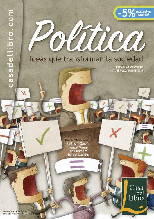 Ofertas de Casa del Libro, Política. Ideas que transforman la sociedad