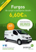 Ofertas de Avancar, Alquiler furgonetas
