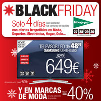 Black Friday. Solo 4 días