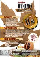 Ofertas de Tony Romas, Menú de otoño
