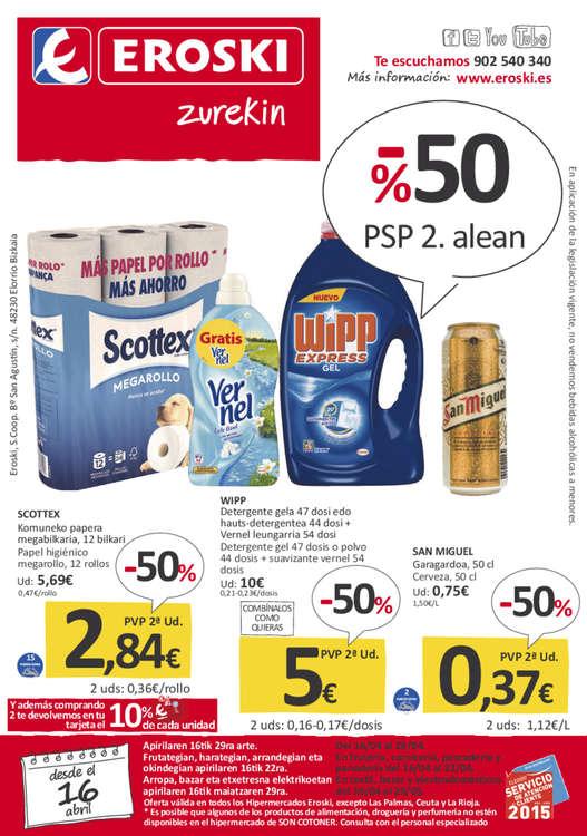 Ofertas de Eroski, -50% PSP 2. alean
