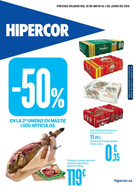Ofertas de Hipercor, -50% en la segunda unidad