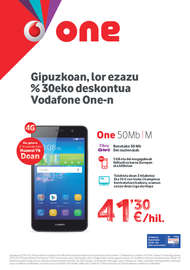 Guipuzkoan, lor ezazu %30eko deskontua Vodafone One-n