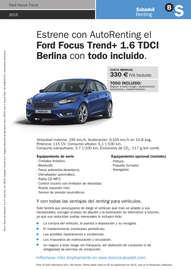 Renting Focus
