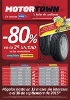 Ofertas de Motortown, -80% en la segunda unidad en neumáticos