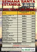 Ofertas de Central de Viajes, Estambul