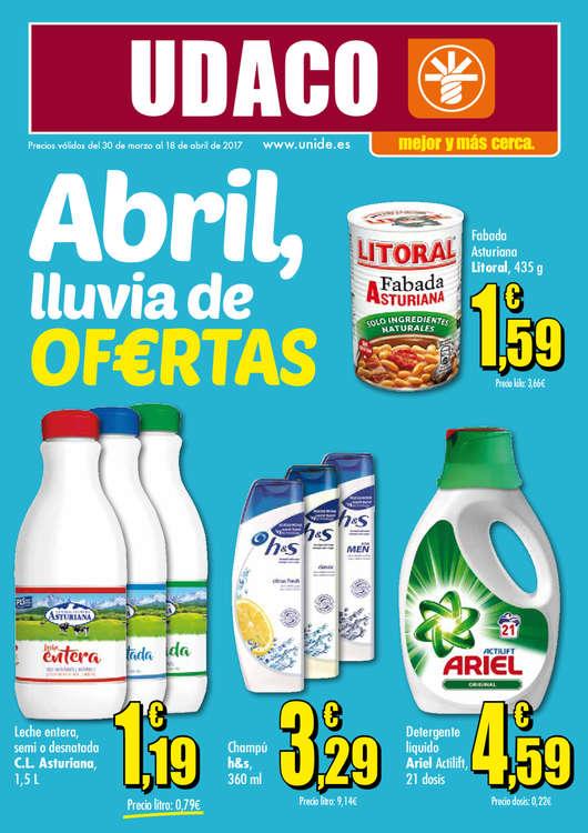 Ofertas de Supermercados Udaco, Abril, lluvia de ofertas