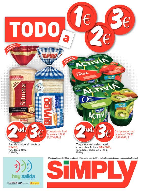 Ofertas de Simply, Todo a 1, 2 y 3€
