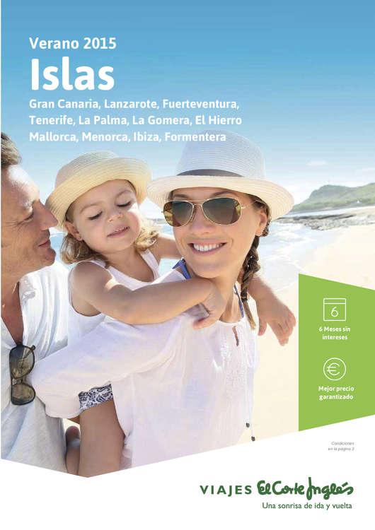 Ofertas de Viajes El Corte Inglés, Verano 2015 Islas