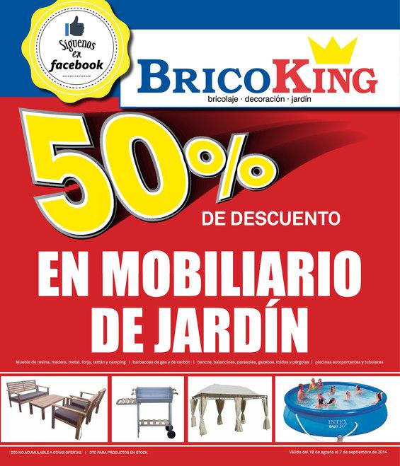 Ofertas de Bricoking, 50% de descuento en mobiliario de jardín