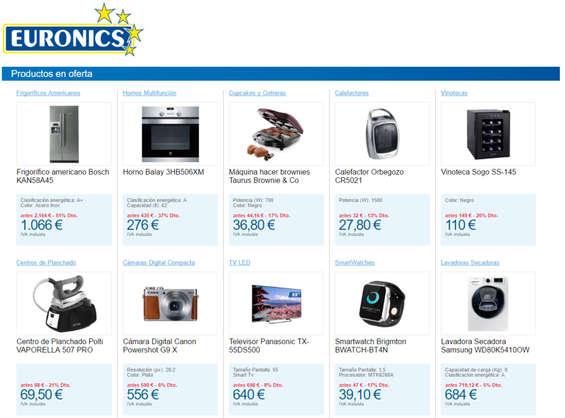 Ofertas de Euronics, Productos en oferta