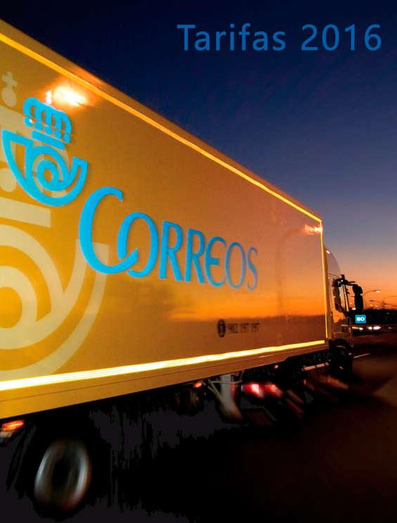 Ofertas de Correos, Tarifas 2016