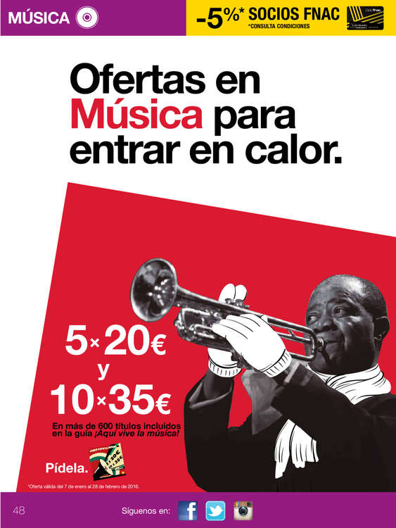 Ofertas de FNAC, Guía Fnac febrero. It's a match!