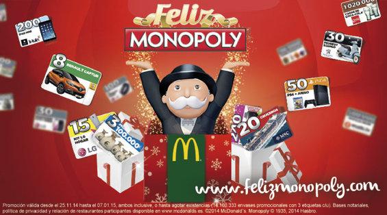 Ofertas de McDonald's, Feliz Monopoly