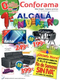 Alcalá 1er Aniversario. Ofertas Especiales