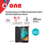 Ofertas de Vodafone, Guztia batean %20ko deskontuarekin eta Smartphonea doan