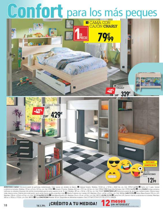 Comprar dormitorio juvenil barato en santa cruz de for Barrera cama carrefour