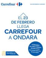 Ofertas de Carrefour, El 23 de Febrero llega Carrefour a Ondara