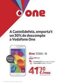 A Castelldefels, emporta't un 30% de descompte a Vodafone One