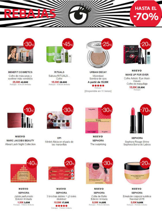 Ofertas de Sephora, Rebajas