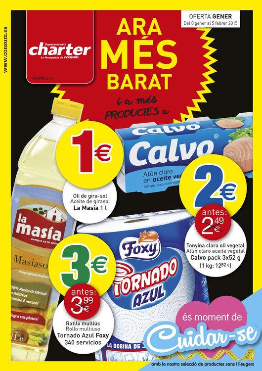Ofertas de Supermercados Charter, Ara més barat