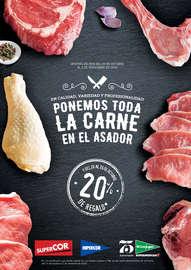 Ponemos toda la carne en el asador