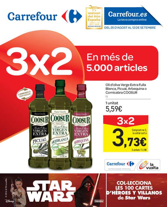 Ofertas de Carrefour, 3x2 en més de 5.000 articles