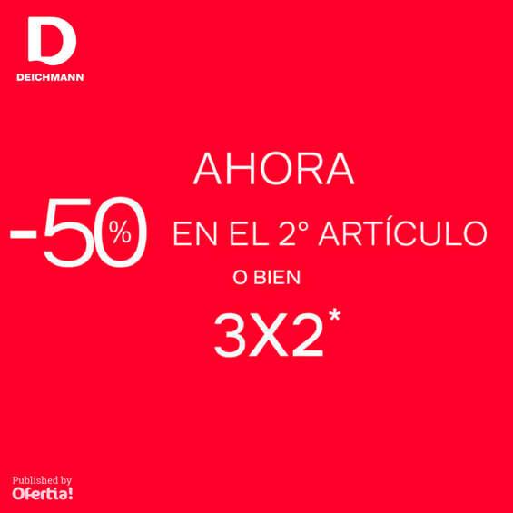 Ofertas de Deichmann, -50% en el 2º artículo o 3x2