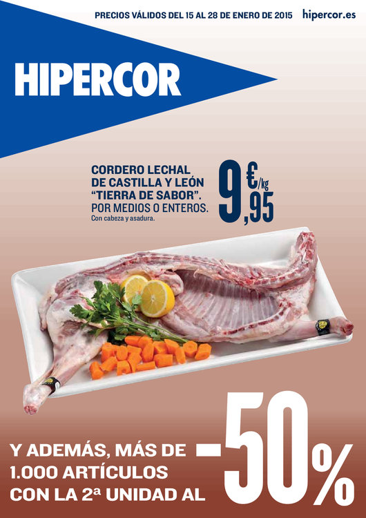 Ofertas de HiperCor, 50% en la segunda unidad