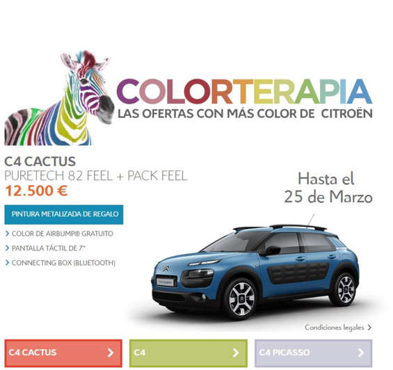 Ofertas de Citroën, Colorterapia