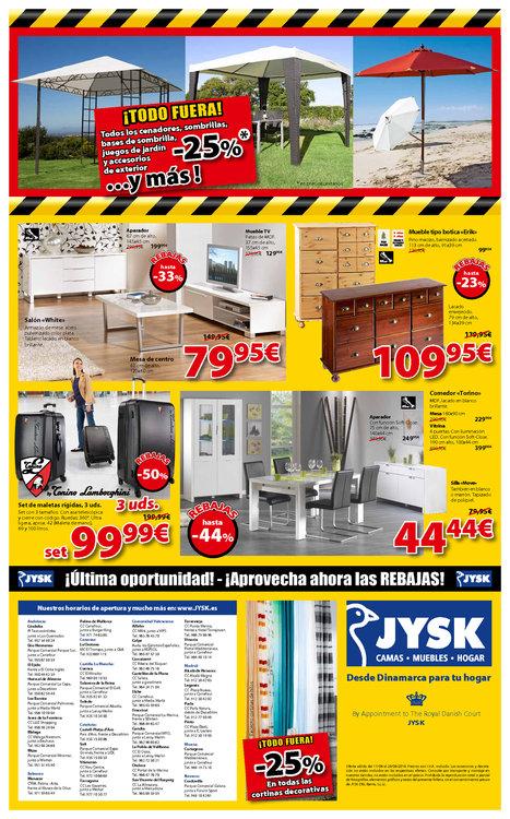 Ofertas de JYSK, ¡Todo Fuera! Rebajas