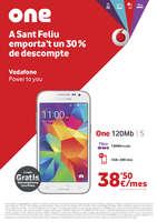 Ofertas de Vodafone, A Sant Feliu emporta't un 30% de descompte