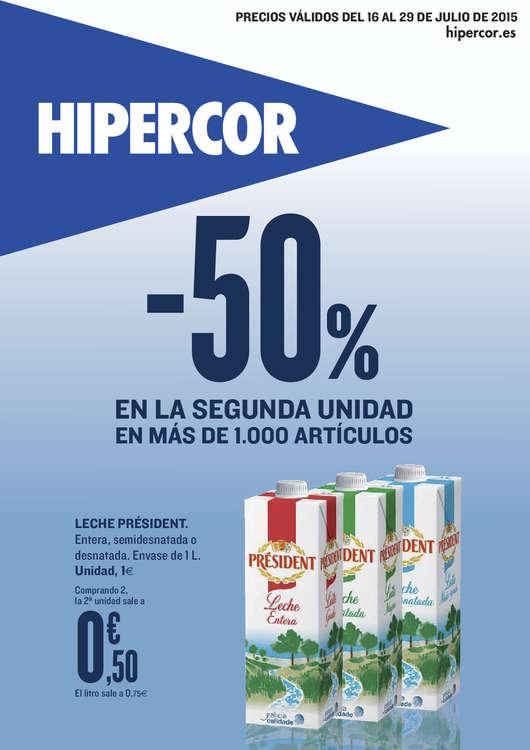 Ofertas de HiperCor, Más de 1.000 artículos. -50% en 2ª unidad