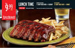 Ofertas de Tony Romas, LUNCH TIME
