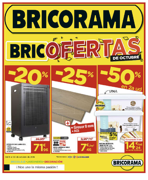 Ofertas de Bricorama, Bricofertas