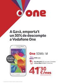 A Gavà, emporta't un 30% de descompte a Vodafone One