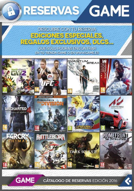 Ofertas de GAME, Reservas 2016
