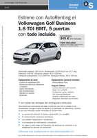Ofertas de Banco Sabadell, Renting Golf