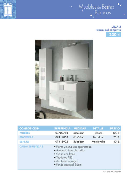 Comprar mueble auxiliar ba o barato en madrid ofertia - Oferta muebles de bano ...