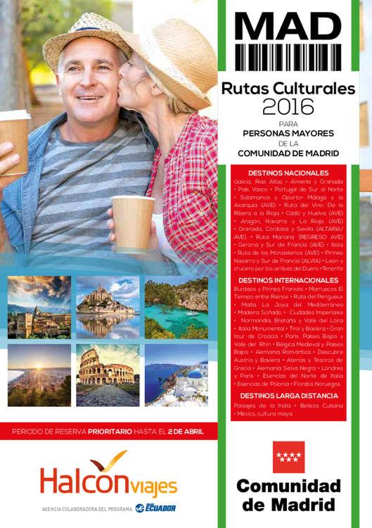 Ofertas de Halcón Viajes, Rutas Culturales 2016